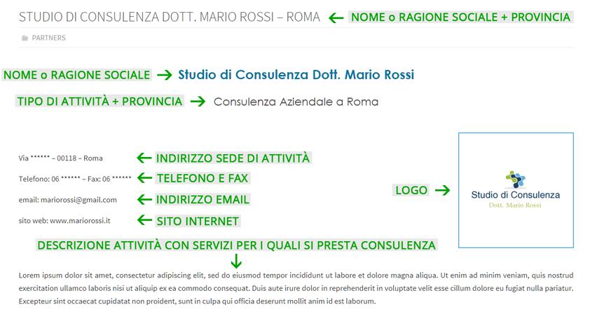 Scheda Azienda Directory Commercialisti